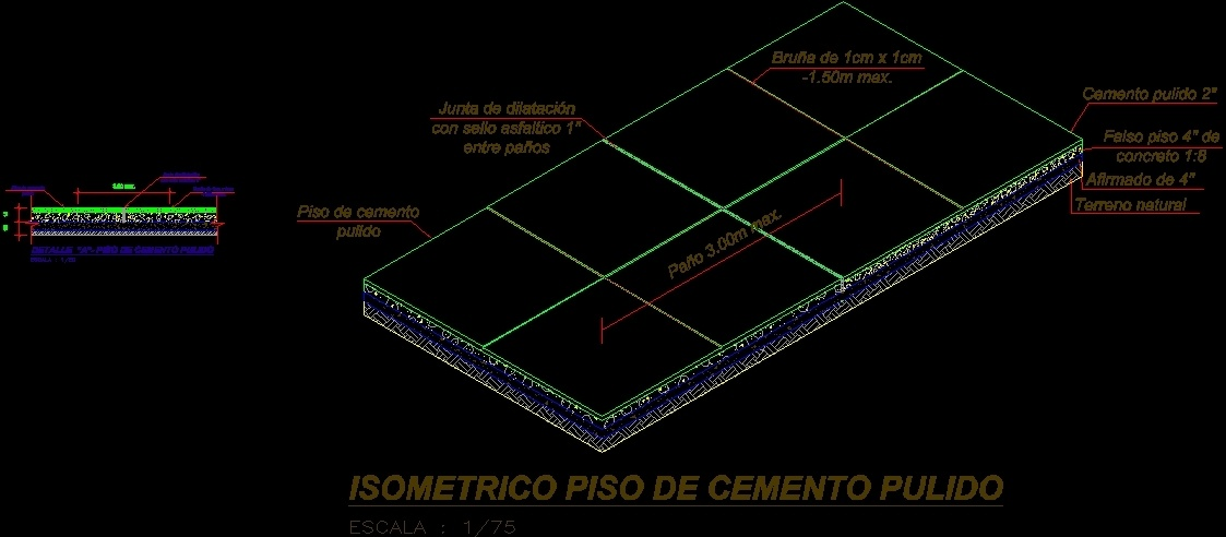 Polished Concrete Floor Dwg Section For Autocad Designs Cad