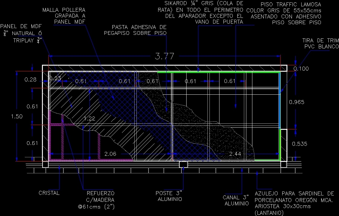 Raised Floor Layers DWG Detail For AutoCAD Designs CAD - Raised floor construction detail