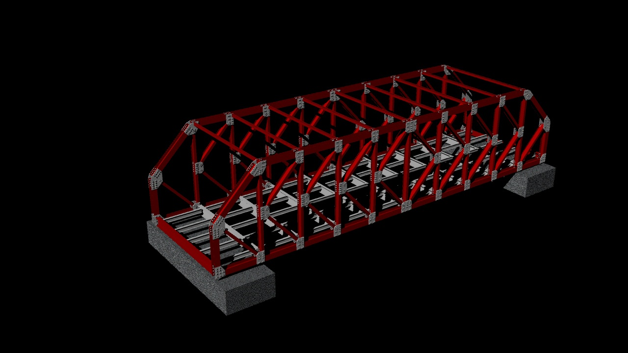 Steel Structure K Truss Bridge 3d Dwg Model For Autocad Designs Cad