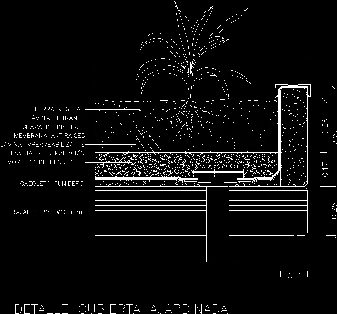 Roof Garden DWG Detail For AutoCAD • Designs CAD