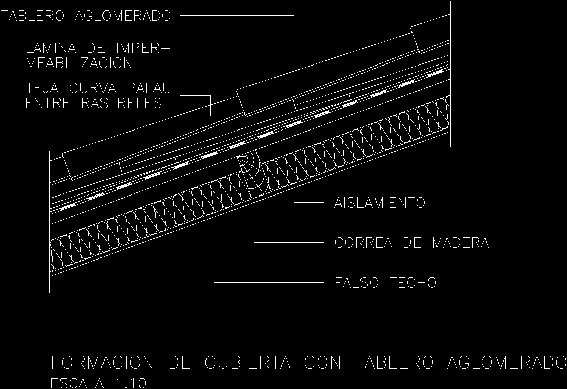 Roofing and insulation dwg detail for autocad designs cad for Roofing forum