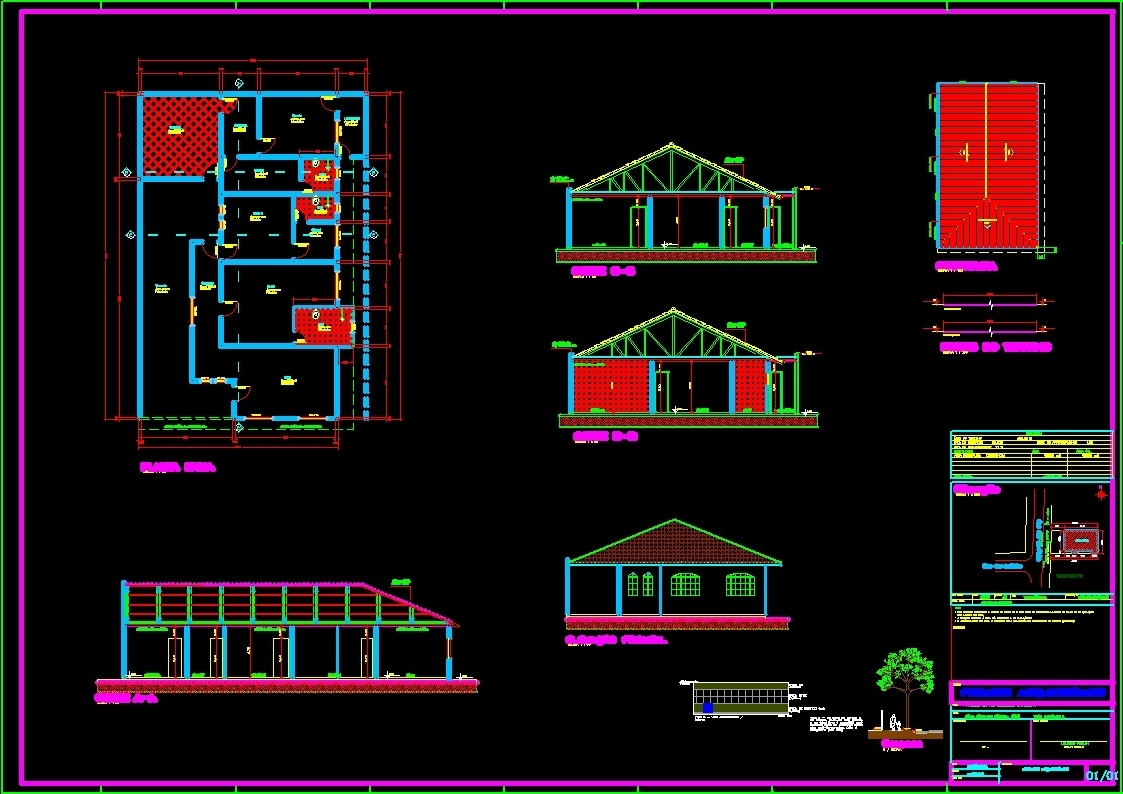 Single Family Dwg Block For Autocad Designs Cad