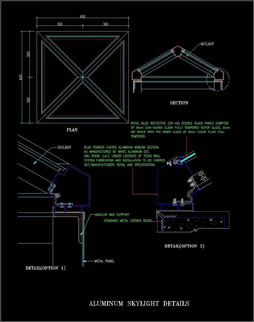 Skylight Construction Details Dwg Detail For Autocad