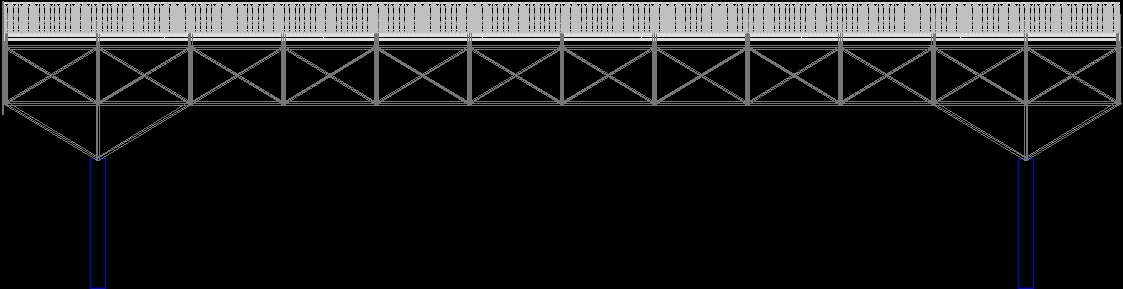 Space Truss Steel Structure Dwg Detail For Autocad