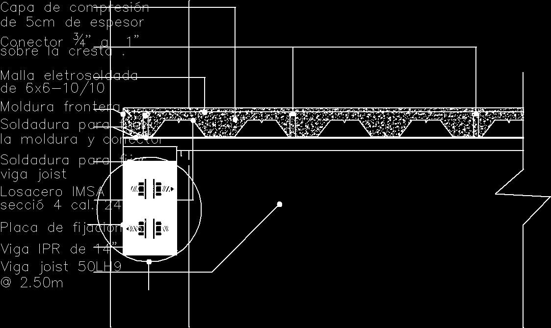 Steel Columns To Steel Slab Dwg Detail For Autocad