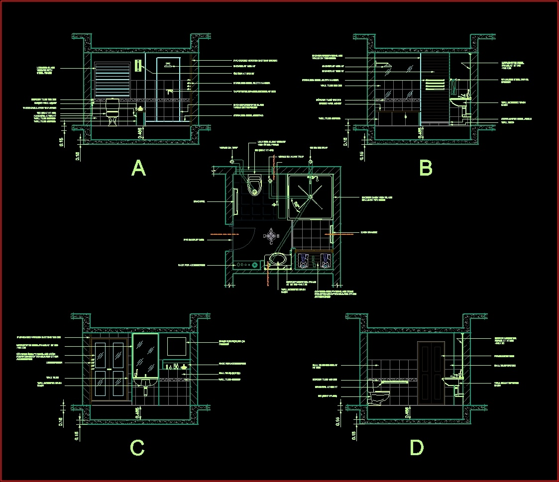 Toilet Dwg Detail For Autocad Designs Cad