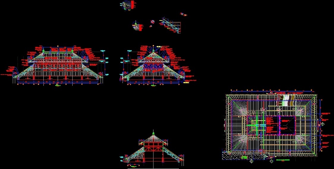 traditional bali roof dwg section for autocad  u2022 designs cad