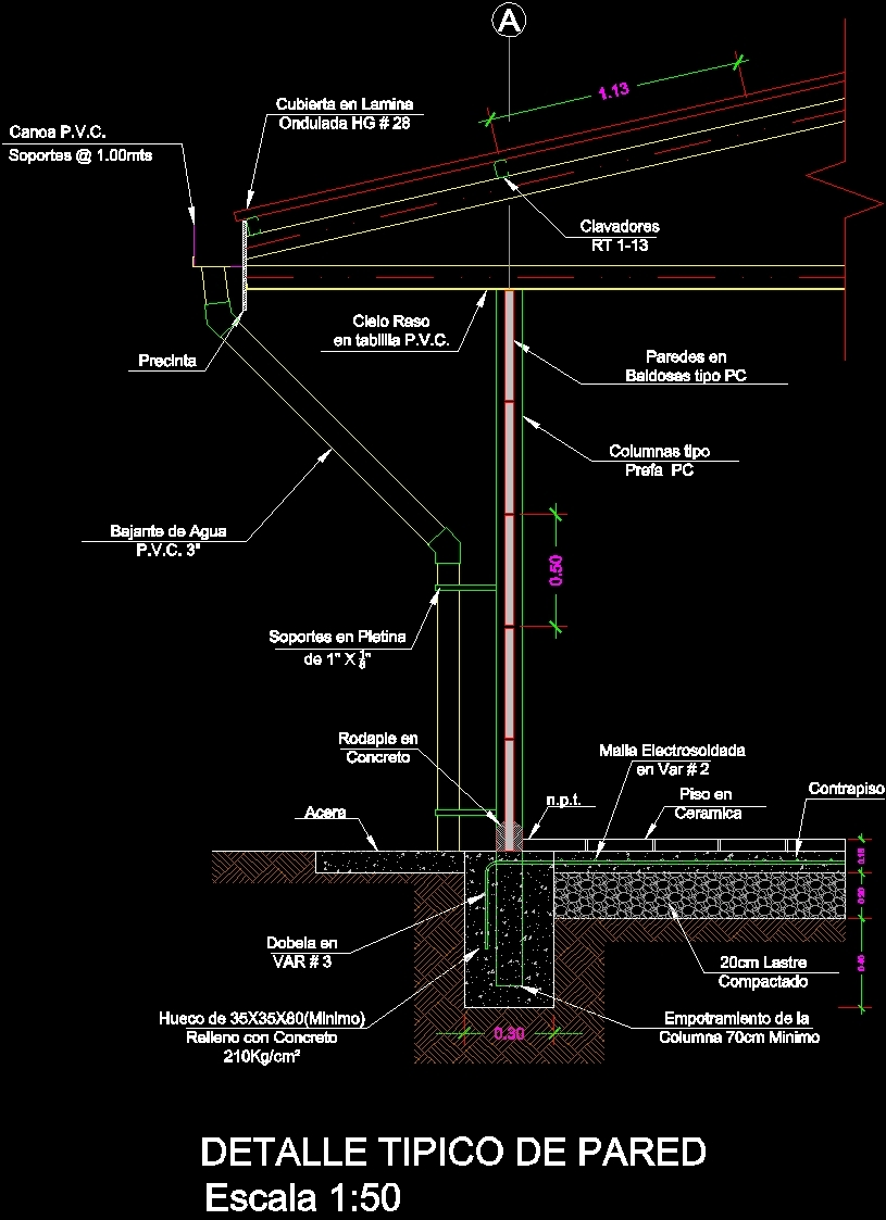 Typical Wall Section Cad - 0425