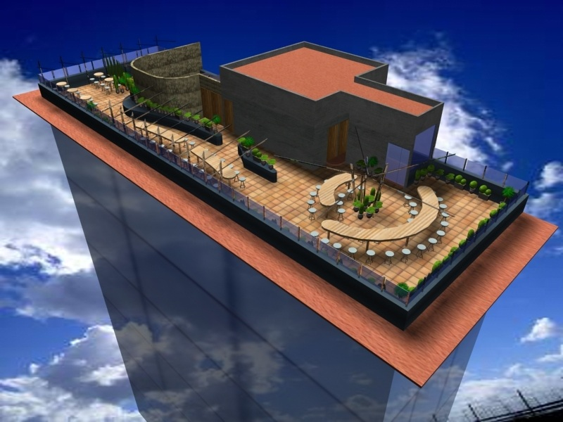 Roof Garden DWG Plan for AutoCAD - Designs CAD