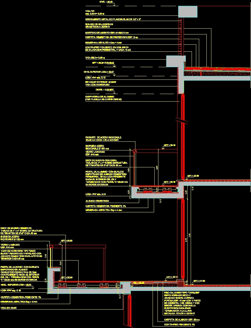 Balcony - Deck DWG Section for AutoCAD - Designs CAD
