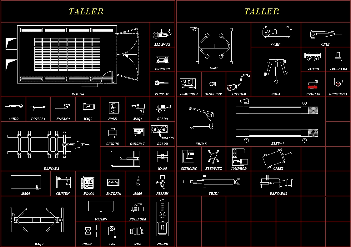 Blocks Of Shop Tools Dwg Block For Autocad Designs Cad