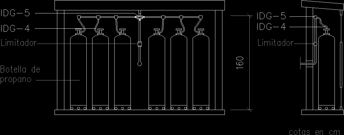 Cabinetof gas five tubes dwg block for autocad designs cad for Simboli gas dwg