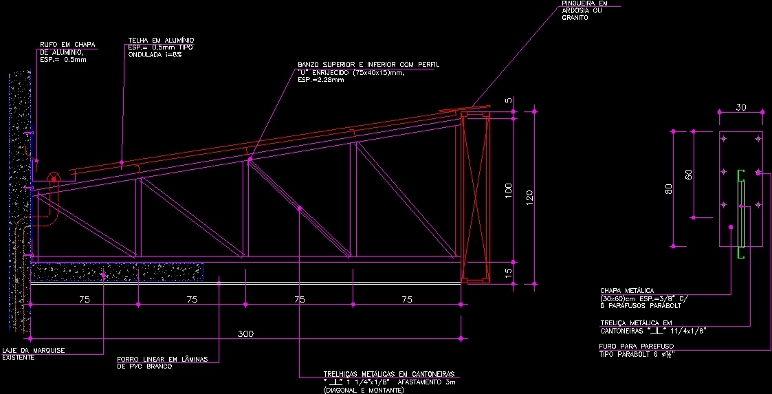 Canopy Detail Dwg Section For Autocad Designs Cad