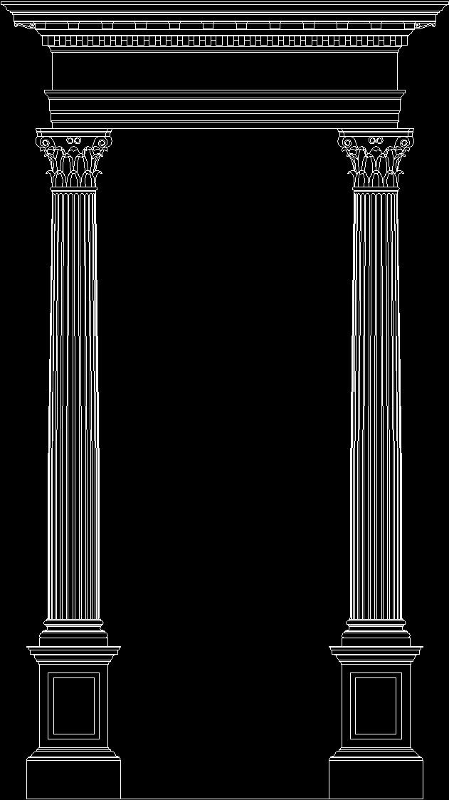 corinthian column dwg block for autocad  u2022 designs cad