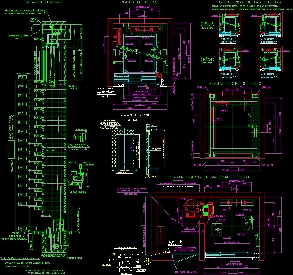 Detail Elevator Dwg Section For Autocad Designs Cad