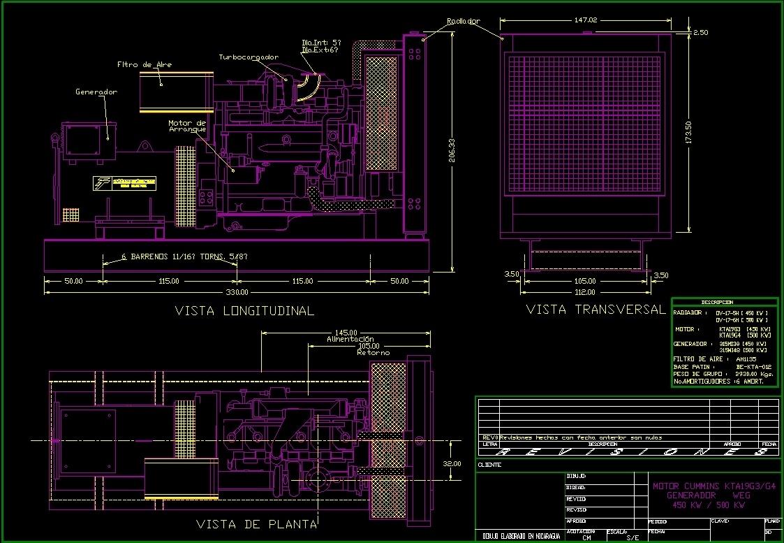 Electic Generator Dwg Block For Autocad Designs Cad