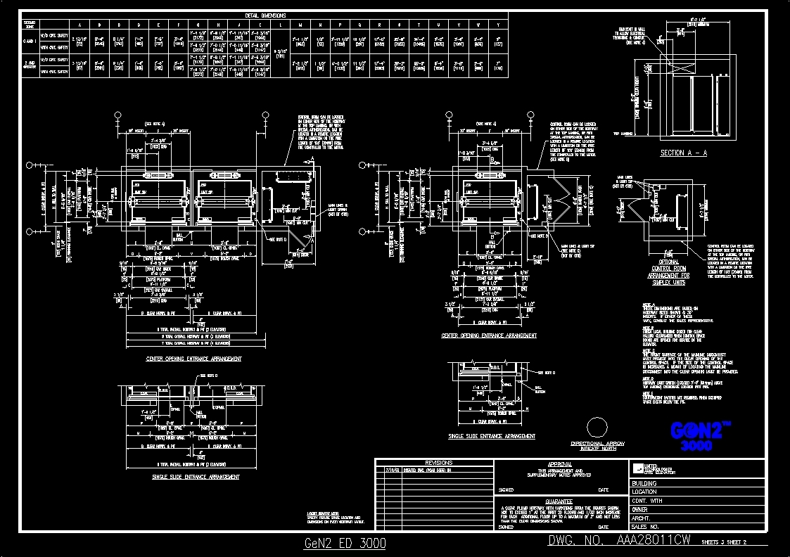 Beam And Block Floor >> Elevator Details DWG Detail for AutoCAD – Designs CAD
