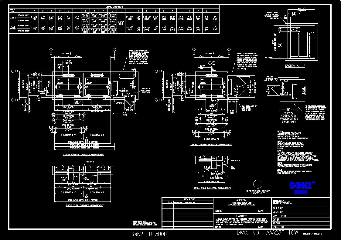 Elevator Details Dwg Detail For Autocad Designs Cad