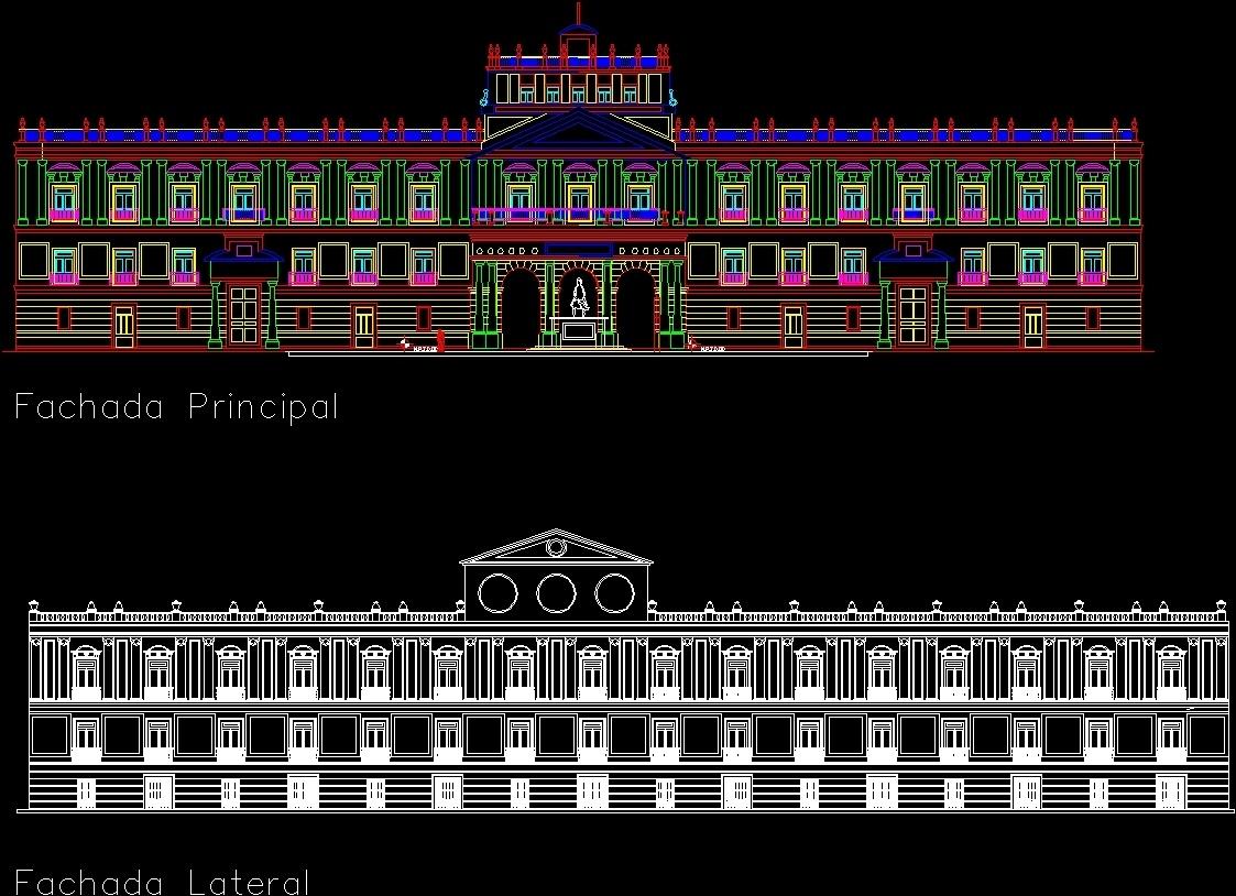 Facades Palace Of Mining Mexico City Historic Center