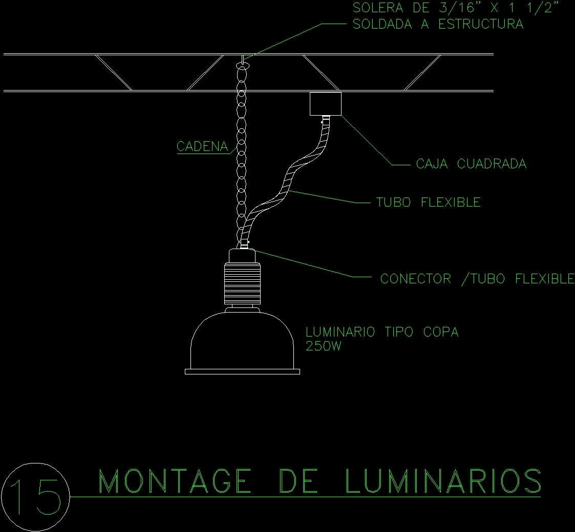 Hanging Lighting DWG Detail For AutoCAD • Designs CAD