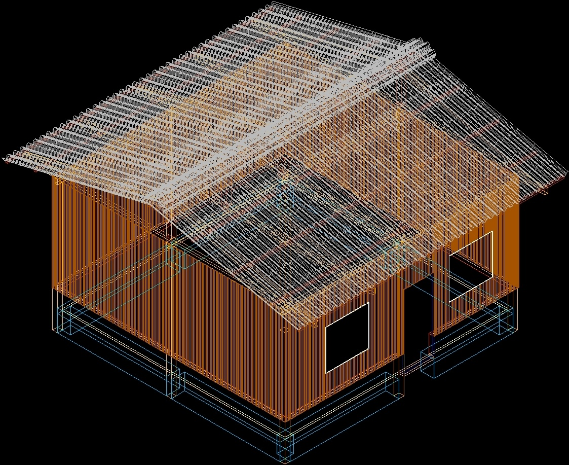 Home 3d dwg model for autocad designscad Home 3d model