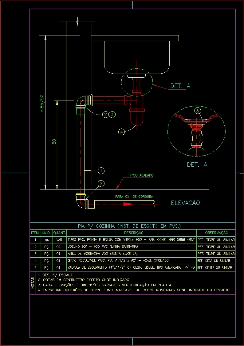 Kitchen Wash Basin Dwg Section For Autocad Designs Cad