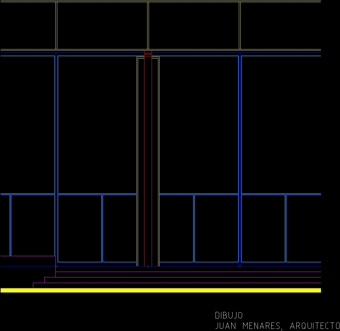 Neve Nationalgalerie Mies Van Der Rohe Dwg Elevation For Autocad  # Muebles Mies Van Der Rohe Autocad