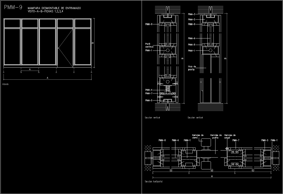 Partition Plans Dwg Plan For Autocad Designs Cad