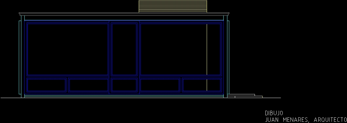 Phillip Johnson Glass House Dwg Elevation For Autocad