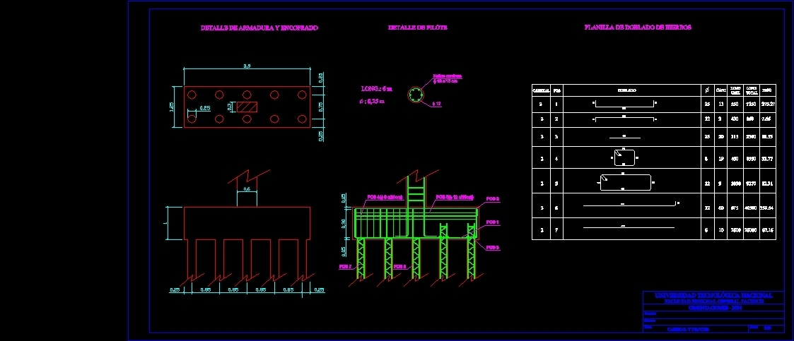 Pile Foundation – Detail DWG Detail for AutoCAD