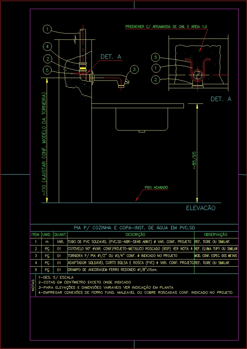Plumbing Fixtures Of Kitchen Dwg Detail For Autocad Designs Cad