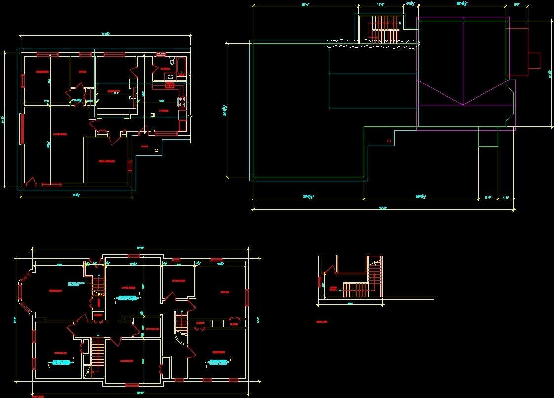 Residential Building Layout Dwg Plan For Autocad Designs Cad