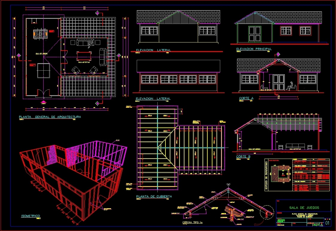 Room Game Dwg Block For Autocad Designs Cad