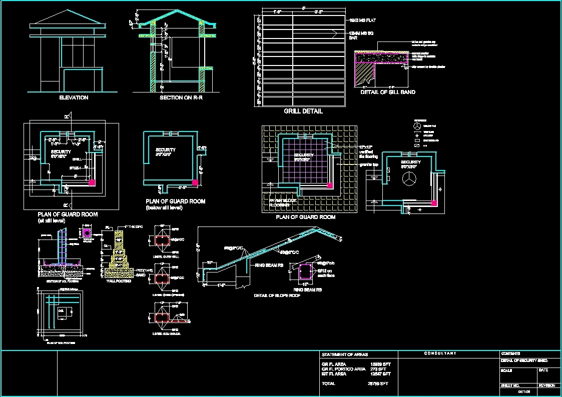 Security room dwg detail for autocad designs cad