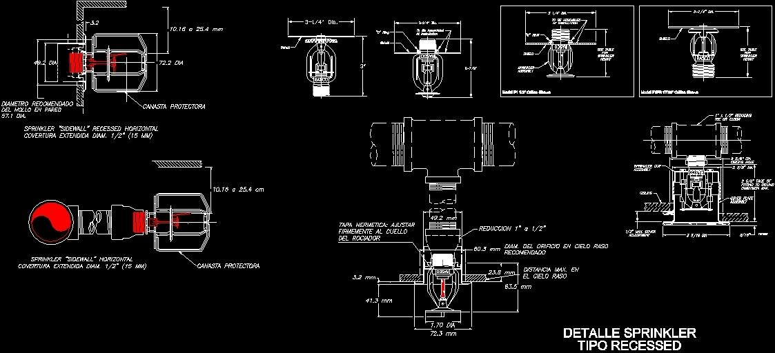 Sprinklers Recesser Dwg Block For Autocad Designs Cad
