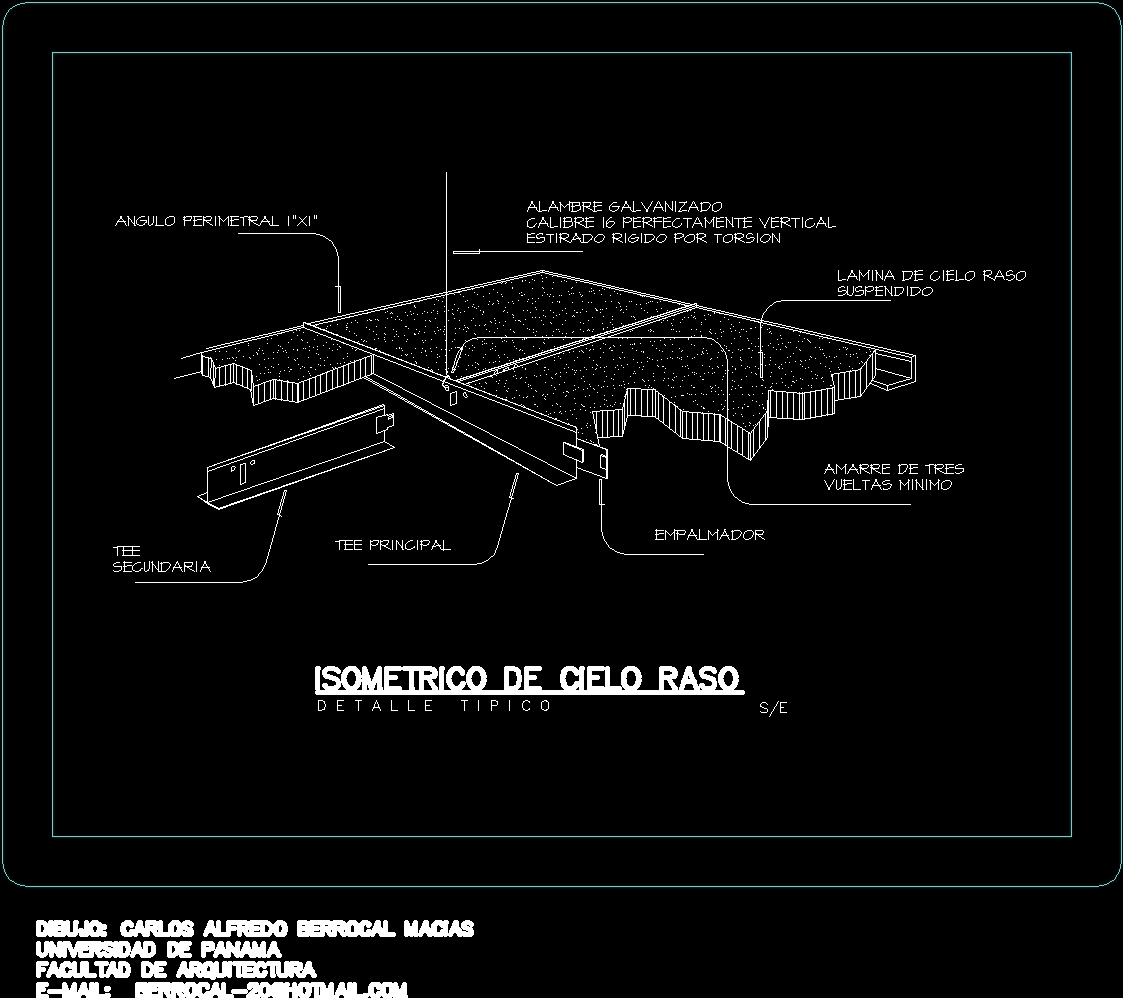 Suspended Ceiling DWG Detail for AutoCAD • Designs CAD