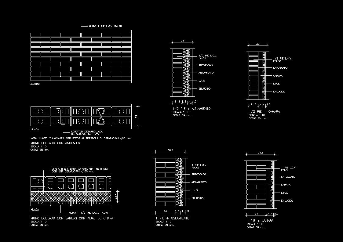 Walls Brick Dwg Block For Autocad Designs Cad