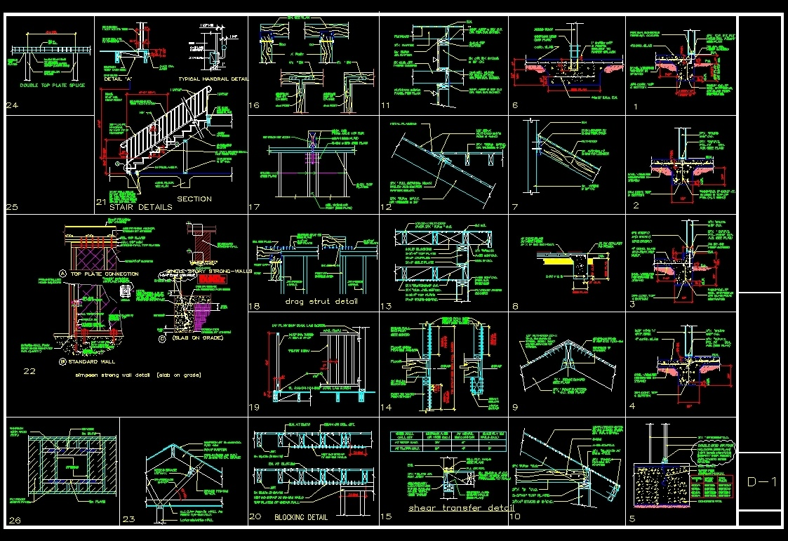 Wooden Constructions Details Dwg Detail For Autocad