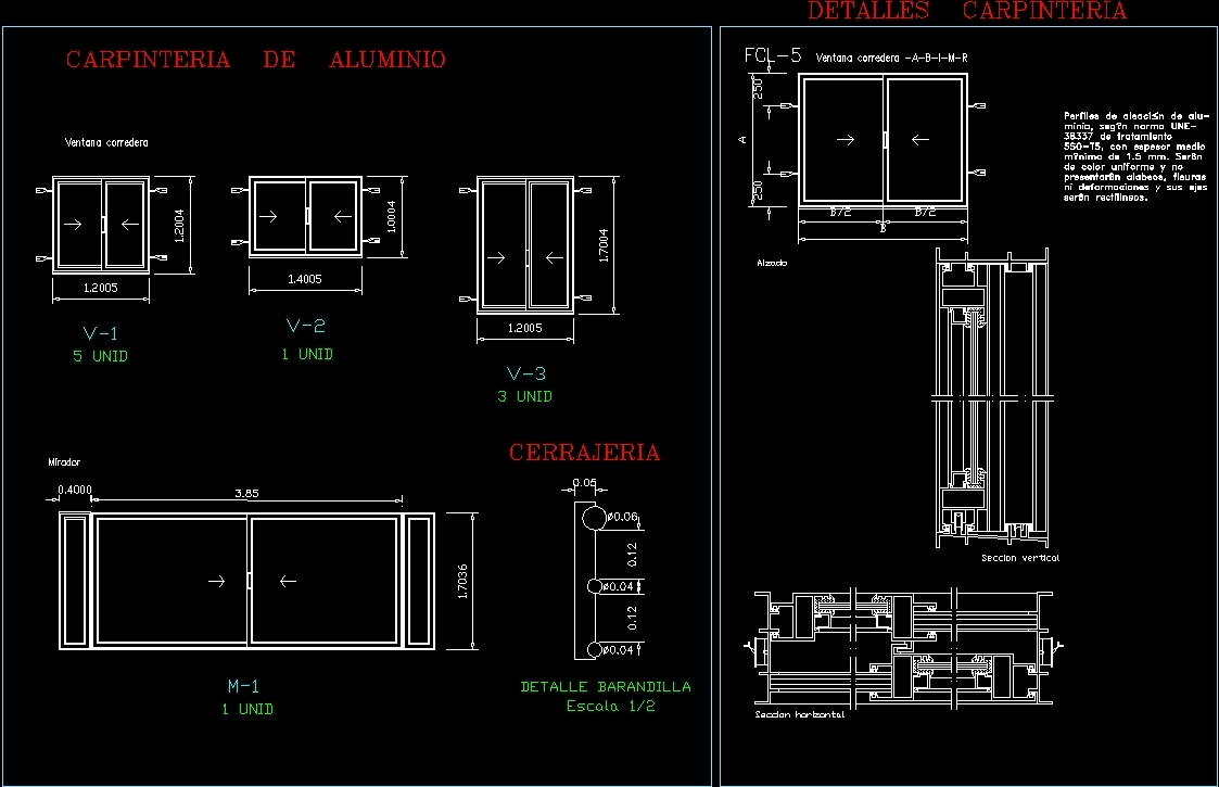 Aluminium Openings Dwg Detail For Autocad Designs Cad