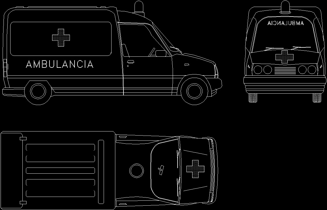 Ambulance 2d Dwg Plan For Autocad Designs Cad