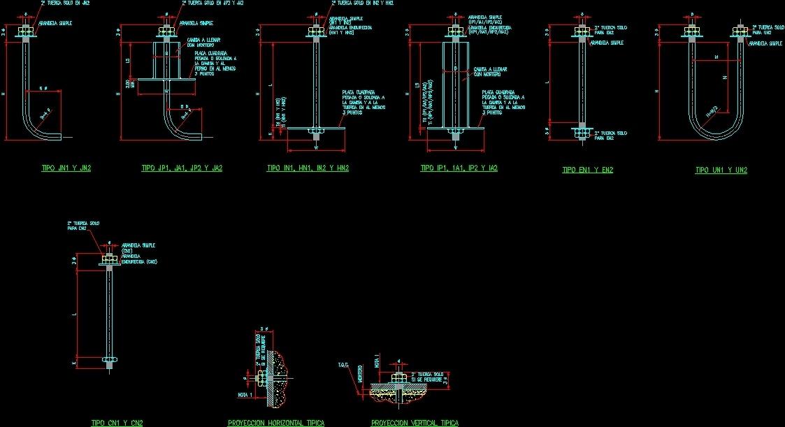 Anchor Bolt Details Dwg Detail For Autocad Designs Cad