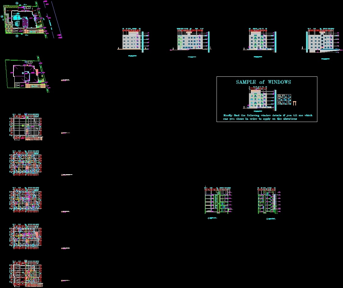 Apartment building dwg block for autocad designs cad for Apartment design autocad