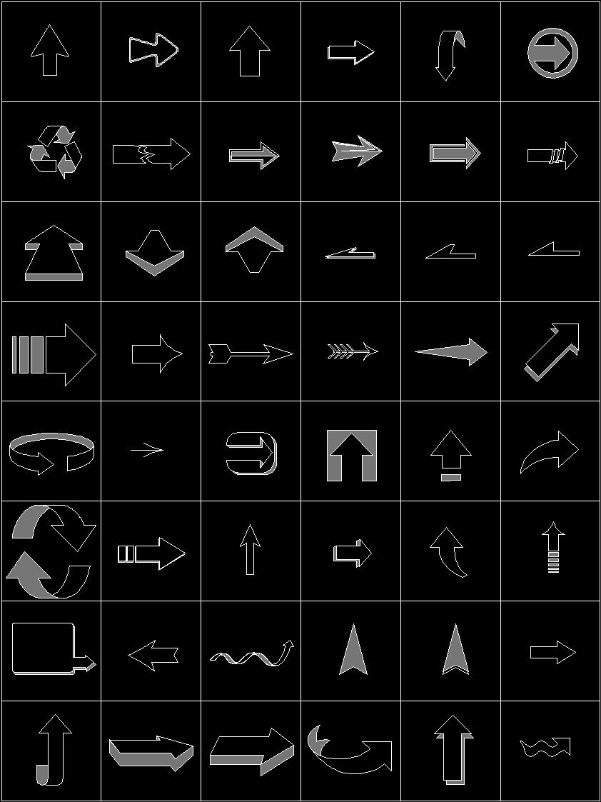 arrows dwg block for autocad  u2022 designs cad