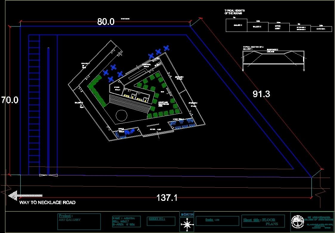 Art Gallery Dwg Block For Autocad Designs Cad