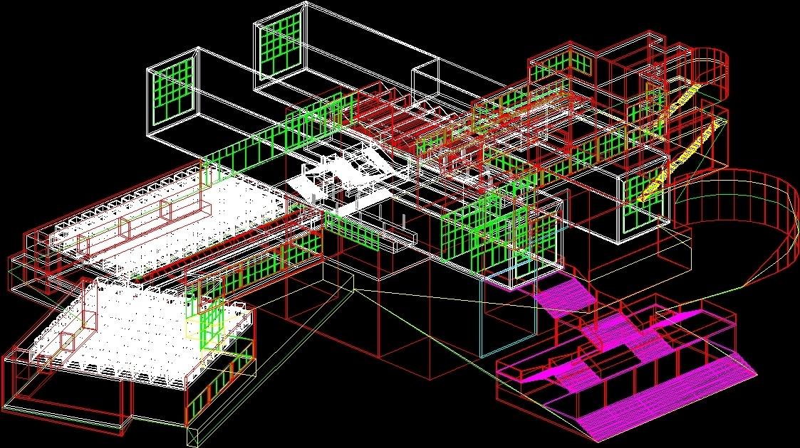 Art Museum 3D DWG Model for AutoCAD