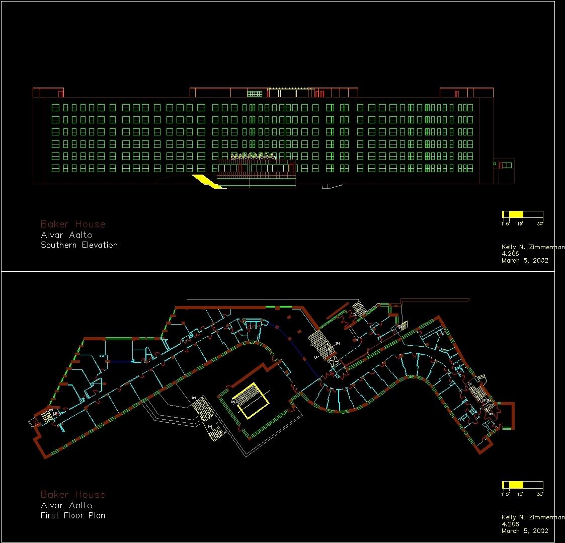 Baker House Dwg Elevation For Autocad Designs Cad
