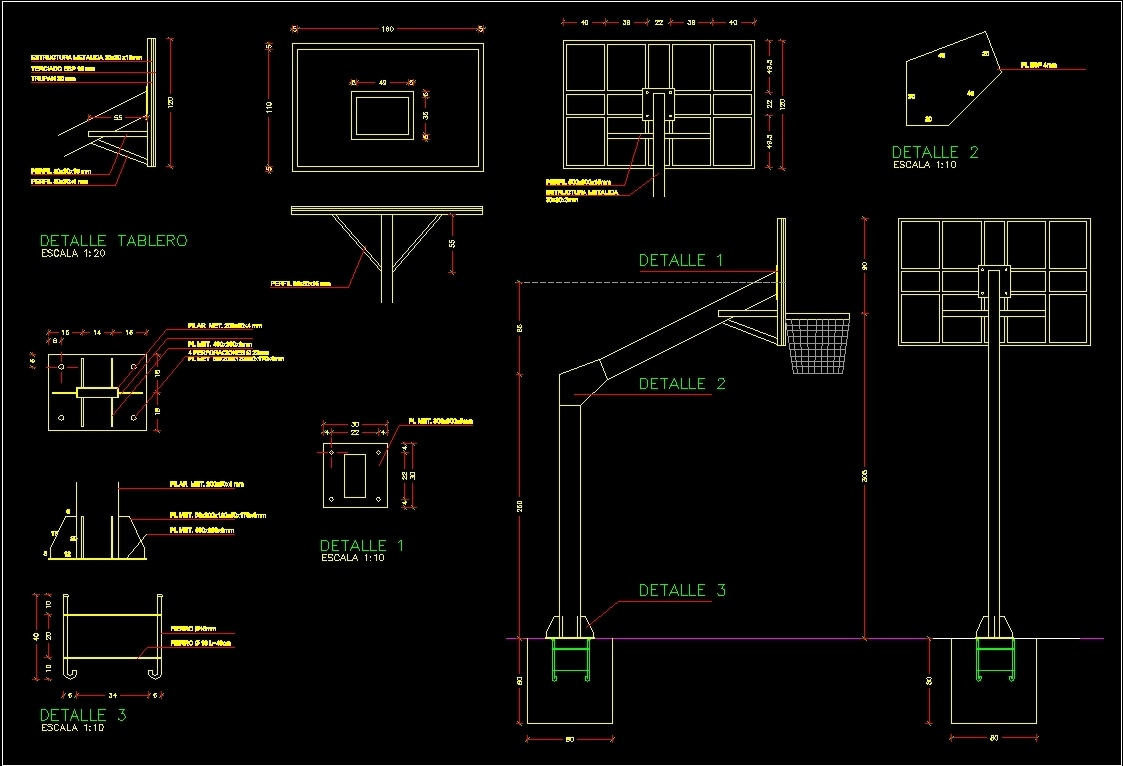 Basketball Board Dwg Detail For Autocad Designs Cad