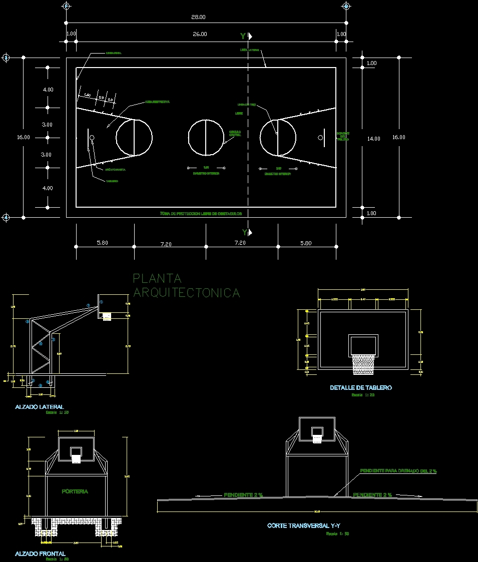 Basketball Landscape Dwg Block For Autocad Designs Cad