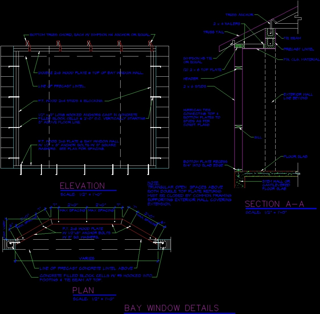 Bay Window Detail Dwg Plan For Autocad Designs Cad