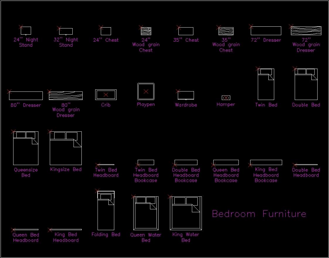 Bedrooms Dwg Block For Autocad Designs Cad